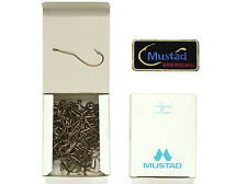 100 Mustad 33645 #5/0 Classic Worm Hooks, For Bass + 1 Mustad patch