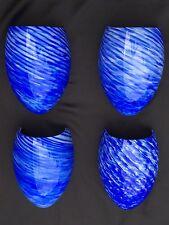 Hand Blown Art Glass Wall Sconce Blue White Swirl Eurofase Azur Lot Of 4 New