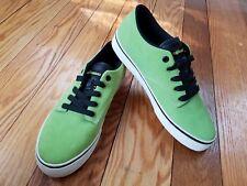 The Hundreds Mens Sneaker Shoes Canvas Platform Casual Suede green sz 9