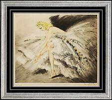 Louis Icart ETCHING Hand Signed Original Color Art Deco Authentic Fair Dancer