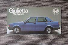 (164A) Prospectus ALFA ROMEO Giulietta