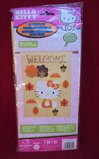 "Hello Kitty House Flag Autumn/Fall Design Leaves and Acorns 28"" x 40"" UNOPENED"