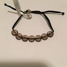 """ALEX AND ANI """"LUCKY 7 TAUPE SOULFUL"""" EXPANDABLE BRACELET IN RUSSIAN SILVER! NWT!"""
