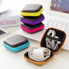 940b57fe1d 2Pcs Headphones Earphone Cable Earbuds Storage Hard Case Carrying Pouch bag  SD C