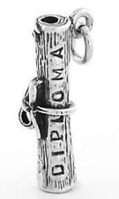STERLING SILVER 3D DIPLOMA CHARM/PENDANT