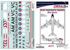 1/48Decals Canadair Sabre - RCAF Blue Devils Team DEKL's II