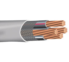 100' 1/0-1/0-1/0-2 Stranded Copper SER Wire Service Entrance Cable 600V Gray