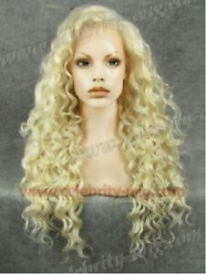 Lace Front Wig New Fashion Glamour Women's Long Light Blonde Curly Natural Wigs