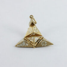 Solid Silver Gold Plated Masonic Pyramid Pendant