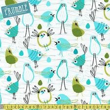 Michael Miller Fabric Pets A Plenty Robin In The Hood PER METRE Bird Birds Green