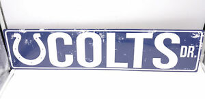 Indianapolis Colts DR Licensed NFL Distressed Street Aluminum Wall Man Cave Sign