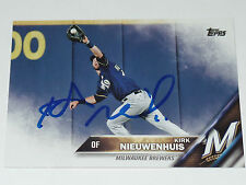 KIRK NIEUWENHUIS SIGNED AUTO'D 2016 TOPPS CARD #US263 MILWAUKEE BREWERS METS