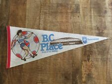 "Vintage BC Place Vancouver Whitecaps Pennant Full Size 30"" NASL Felt Flag Soccer"