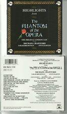 PHANTOM OF THE OPERA HIGHLIGHTS CD /ORIGINAL LONDON CASTS  BRIGHTMAN, M CRAWFORD