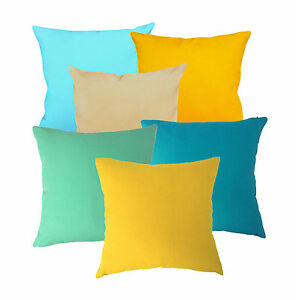 aa Plain Solid Color Cushion Cover Cotton Canvas Fabric Pillow Case*Custom Size*