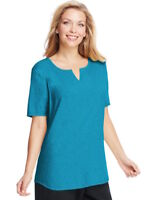 NEW! Just My Size 3X, 22W/24W Blue V-Neck Short-Sleeve Women's Tee J169