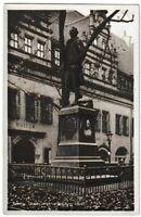 Ansichtskarte Leipzig - Goethe-Denkmal am Naschmarkt - schwarz/weiß 1933