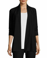 NWT Eileen Fisher Washable Stretch Crepe Jacket in Black - size XS #C1077