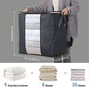 5er Atmungsaktive Aufbewahrungstasche Tragetasche für Bettdecken Kissen Kleidung