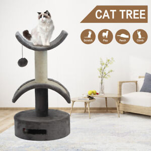 Pet Cat Tree Trees Scratching Post Scratcher Tower Condo House Bed 56cm