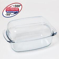 Termisil Glas Bräter 7 Liter Glasbräter groß Deckel Auflaufform Glaspfanne