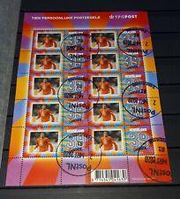 Nederland persoonlijke postzegels velletje gestempeld