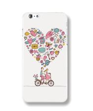 iPhone 6 6S Handyhülle Handy Hülle Schutz Case Cover Silikon TPU Love Liebe Weiß