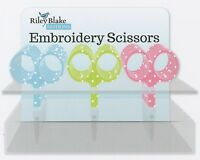 "Riley Blake Embroidery Scissors 4"" Aqua, Lime, or Hot Pink"