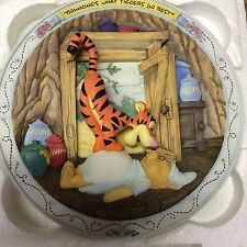 "Disney Winnie The Pooh Bradford Exchange Collector Plate ""Bouncing'S What Tigger"