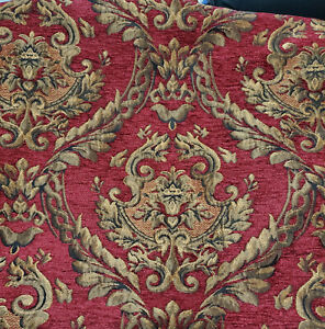 "Chenille  UPHOLSTERY Fabric Jacquard Damask, 54"" wide , sold by yard"