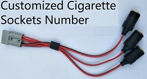 Cigarette lighter socket cable to Anderson fit plug. Customized sockets number.