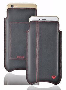 iPhone 11   iPhone XR Case BLACK Leather NueVue SANITIZING Screen Clean WALLET