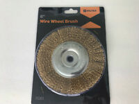 """6"""" Medium Face 11061 BENCH GRINDER WIRE WHEEL Fits 1/2"""" or 5/8"""" arbor 3750 RPM"""