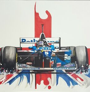 Damon Hill - F1 British Driver Car Racing Large Poster / Canvas Picture Prints