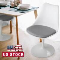 Elegant Tulip Dining Chair Swivel Side Chair w/ Soft Cushion Kitchen Dining Room