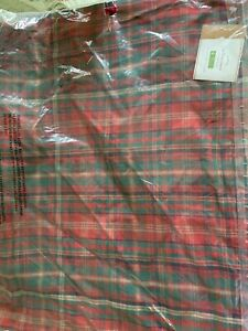 NEW Pottery Barn LYNBROOK PLAID Pillow Cover 20X20 Red Green Holiday Christmas