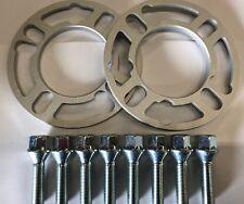 2 x 10 mm Lega Ruota Distanziatori spessori + M14X1.25 Argento bulloni Mini R57 R58 4X100