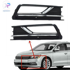 One Pair Front Bumper Fog Lights grille US style  For VW Passat B8 2016 2017 NEW