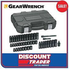 "GearWrench 44Pc 3/8"" 6 Point SAE/Metric Standard/Deep Impact Socket Set - 84916N"