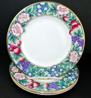 Royal Doulton Orchard Hill 4 Salad Accent Plates Grapes Peonies Pretty China Set