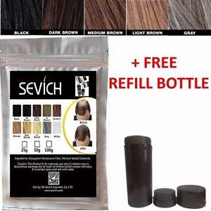 Sevich (ex-Future) HAIR BUILDING Fibers Bulk Bag 100g KERATIN+FREE REFILL BOTTLE