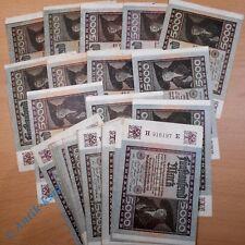 Lot Reichsbanknoten : 50 x 5.000 Mark vom 02.12.1922 , diverse Wasserzeichen