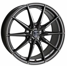 18x8 Enkei Rims DRACO 5x100 +45 Antrhracite Wheels (Set of 4)