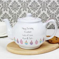 Personalised Pink Cupcake Teapot WORLD'S BEST Mum Nanna Sister Friend Christmas