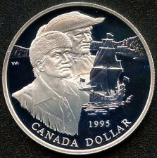 1995 Canada Proof Silver Dollar (Hudson's Bay 325th) 25.175 Grams .925