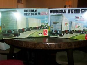 AMT VINTAGE AND NEW DOUBLE HEADER FACTORY SEALED TRAILERS GREAT CONDITION