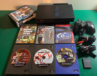 PS2 Playstation 2 Fat Console w/Controller/Network Adapter/10 Games/Memory Card