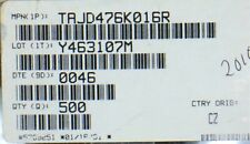 TAJD476K016R AVX Tantalum Capacitors - Solid SMD 16V 47uF 10% 20 PIECES
