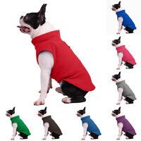 Winter Dog Clothes Large Small French Bulldog Fleece Jacket Pet Coat Clothing