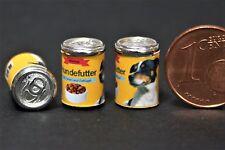 1 kleine Dose Hundefutter Miniatur Diorama 1:12 Puppenstube Puppenhaus 1:18